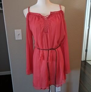 Double Zero Tunic Coral Size Medium